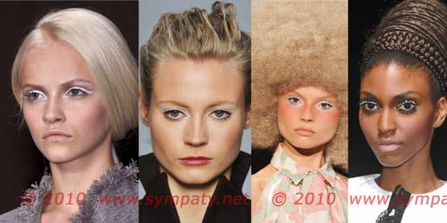 белый цвет макияж 2010