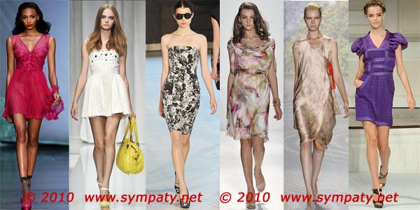 платья лето 2010 тенденции