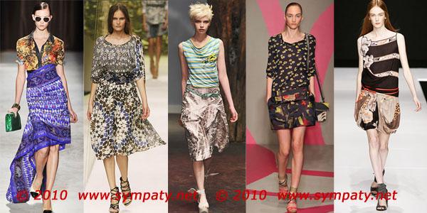 модные принты 2010 лето тенденции