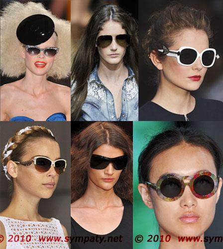 солнечные очки лето 2010