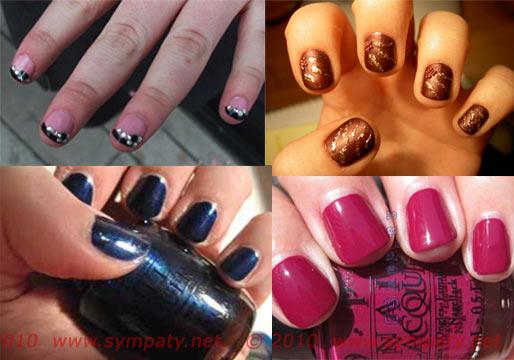 накрасить короткие ногти