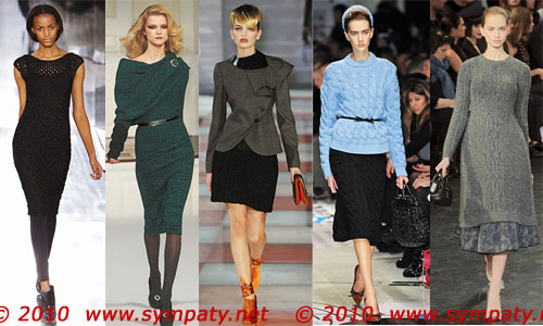 Слева направо: Nicole Farhi, Oscar de la Renta, Emporio Armani, Prada, Louis Vuitton