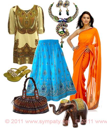 Для индийской одежды характерна закрытость и многослойность.