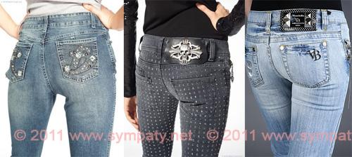 Вышивка на джинсы на попе