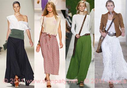 очень модные юбки макси 2011