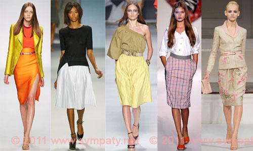 модные юбки 2011 миди