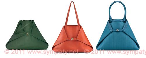 модные сумки 2011 цветные треугольные