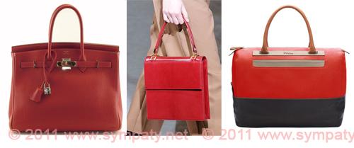 модная красная сумка 2011