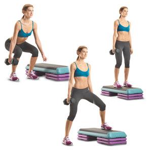 Упражнения степ-аэробики