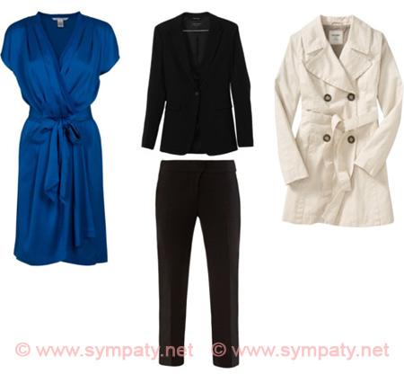 Наряды, которые идут всем: платье с запахом, классический костюм и тренчкот