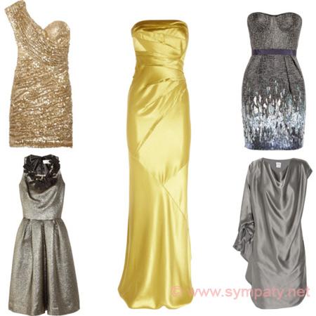 Блестящие вечерние платья
