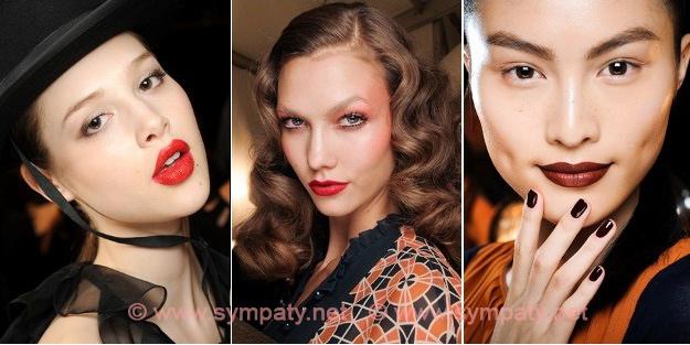 Модная красная помада 2012