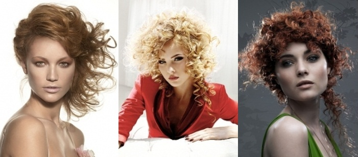 Прически для кудрявых волос: фото