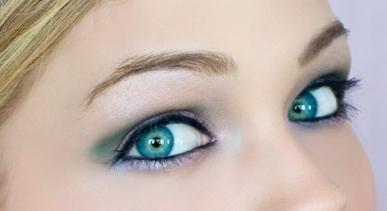Праздничный макияж глаз