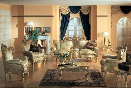 Классический стиль в интерьере мебель и портьеры