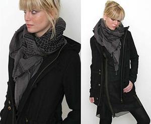 пальто с шарфом. пальто.