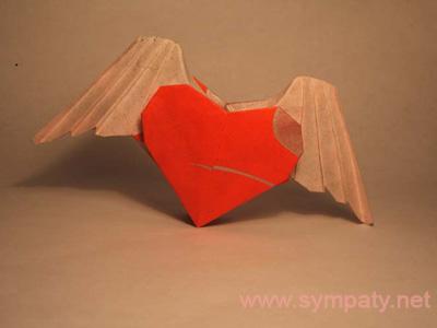 нестандартная валентинка оригами