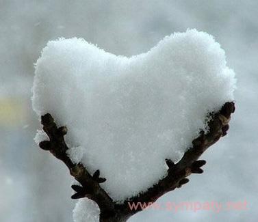 валентинка из снега