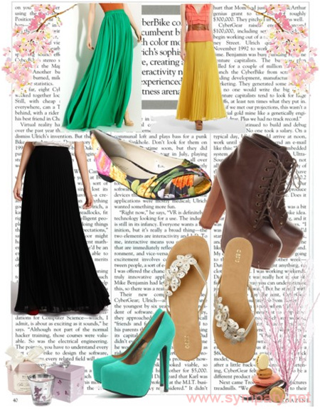 Обувь под длинную юбку