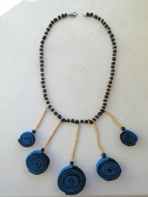 Мастер-класс ожерелье из фетра