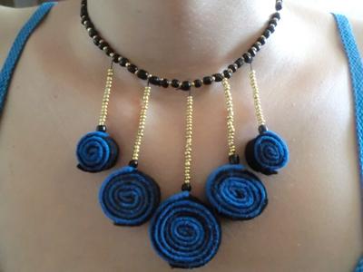 Мастер-класс ожерелье из фетра готово