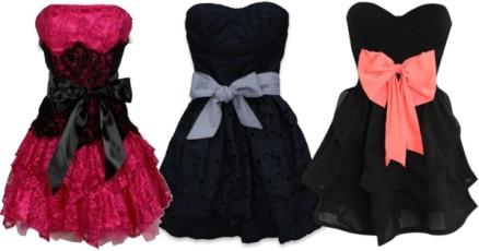 контрастный пояс на платье