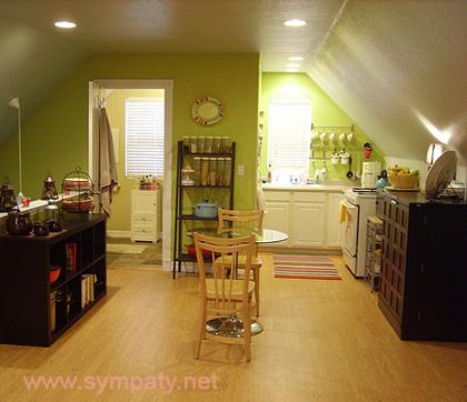 Как увеличить маленькую кухню
