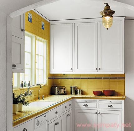 как увеличить кухню с помощью цвета