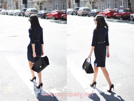 как носить черный цвет для работы офиса