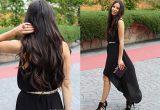 как носить вечернее черное платье