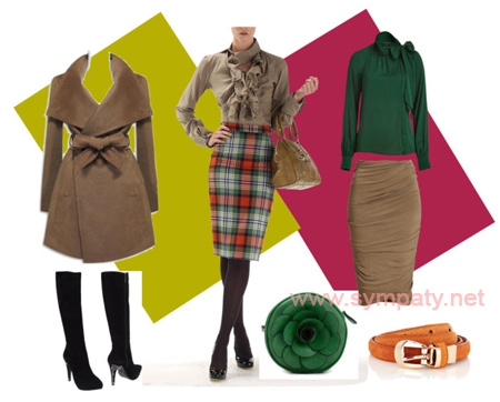 как носить юбку зимой и осенью