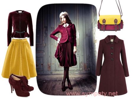 с чем носить юбку зимой и осенью