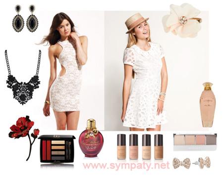 белый цвет в одежде для брюнеток и блондинок
