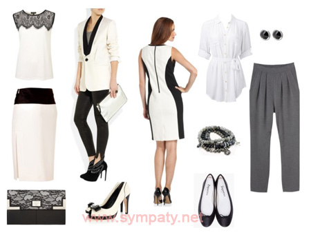 белый цвет в одежде стройнит