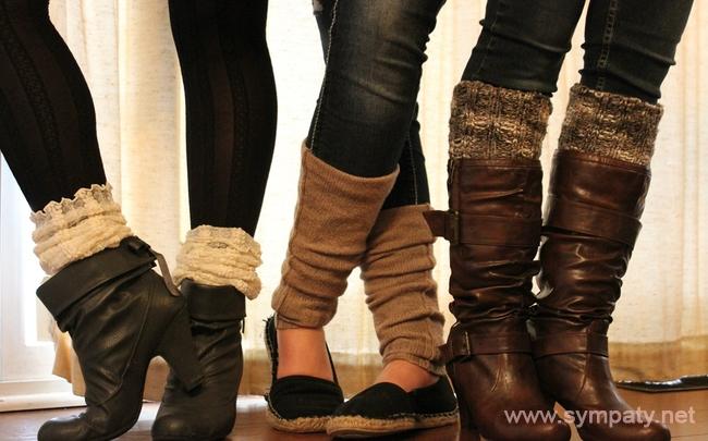 Осенью гетры - прекрасная возможность дополнительно утеплить ноги