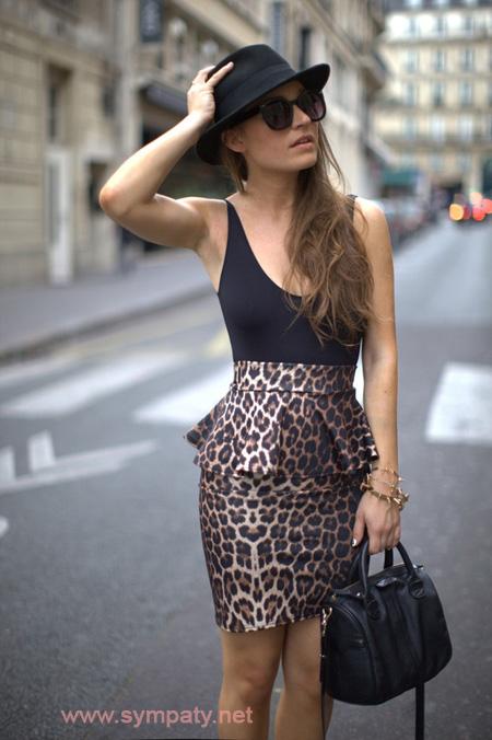 С чем и как носить леопардовую юбку