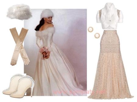 как выбрать зимнее свадебное платье