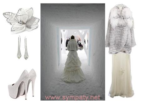 верхняя одежда к зимнему свадебному платью