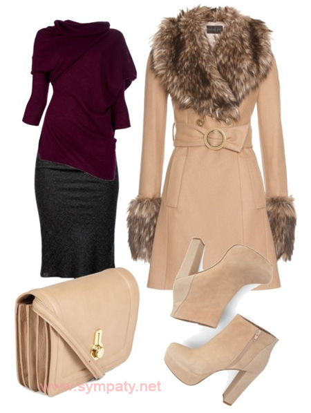 зимняя сумка подобрать к пальто шубе