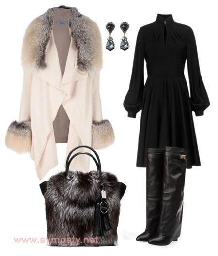 зимняя меховая сумка