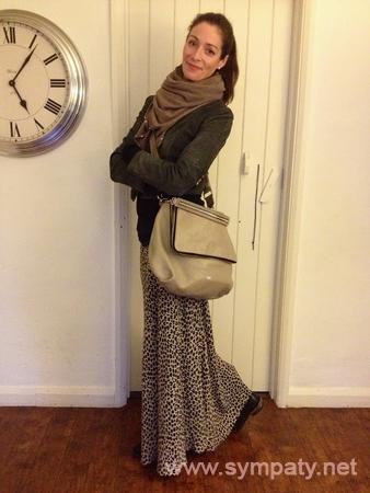 зимняя длинная юбка-2