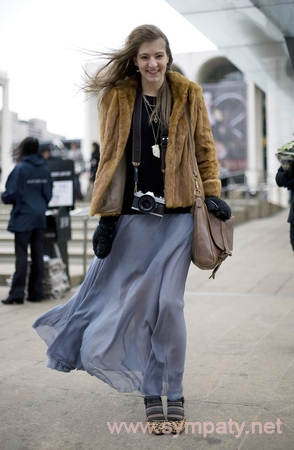 зимняя длинная юбка--5