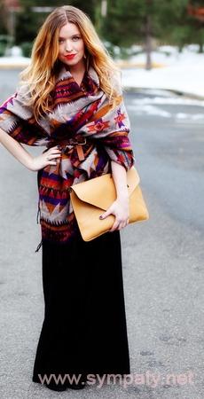 зимняя длинная юбка-6