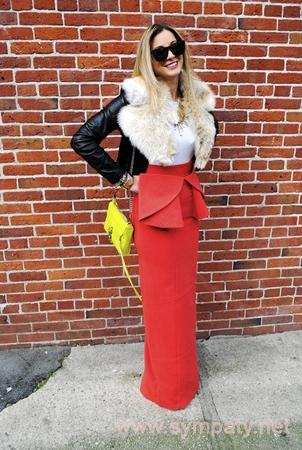 зимняя длинная юбка-7