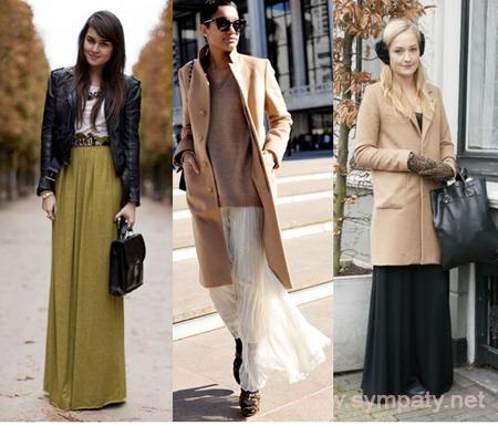 Прямая юбка и пальто