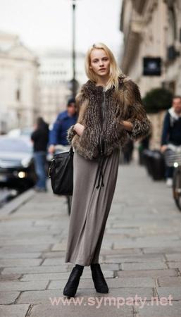 зимняя длинная юбка
