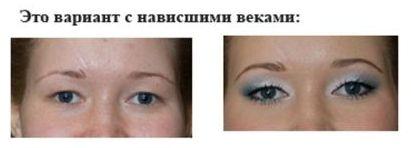 макияж нависшие веки