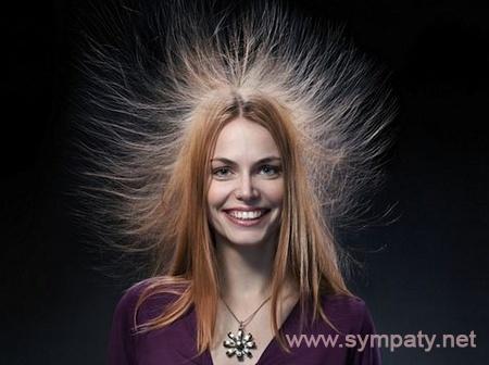 волосы сильно электризуются