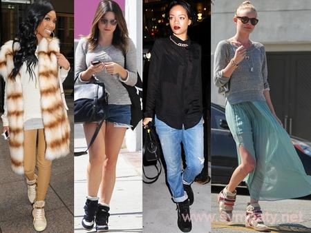 высокие кеды женские фото с чем носить