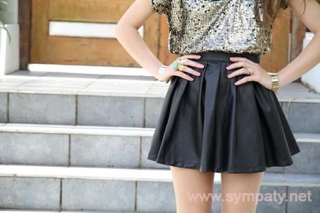короткая юбка по фигуре